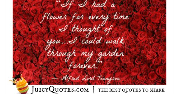 Cute Love Quote - Alfred Lord Tennyson 2