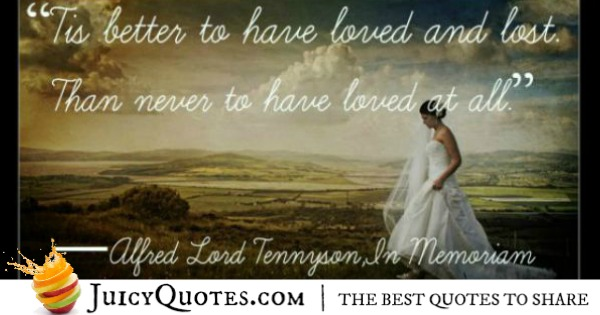 Cute Love Quote - Alfred Lord Tennyson