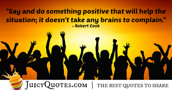 Positive Saying - Robert Cook