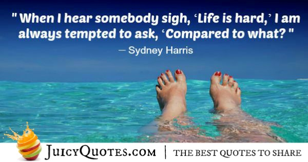 Positive Saying - Sydney Harris