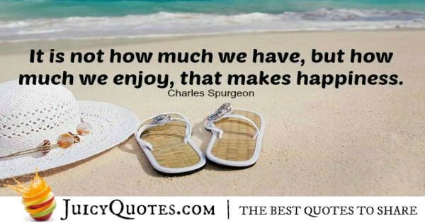 Quote About Being Happy - Charles Spurgeon