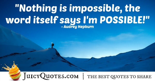 Quote About Inspiration - Audrey Hepburn