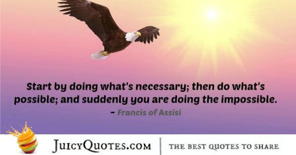 Quote About Inspiration - Francis of Assisi