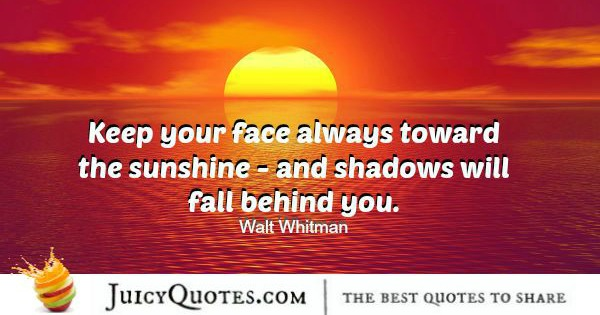 Quote About Inspiration - Walt Whitman