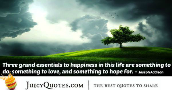 Quote About Life - Joseph Addison