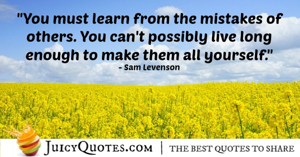 Quote About Life - Sam Levenson