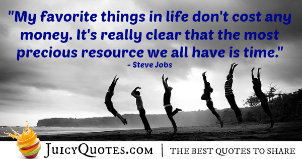 Quote About Life - Steve Jobs