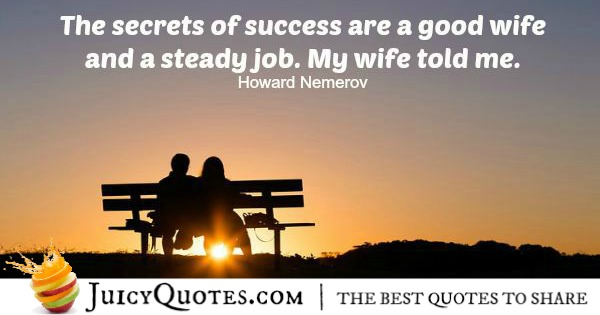 Quote About Success - Howard Nemerov