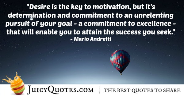 Quote About Success - Mario Andretti