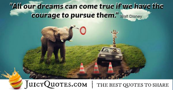 Quote About Success - Walt Disney