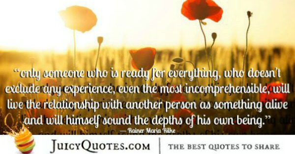 Quotes About Relationships - Rainer Maria Rilke