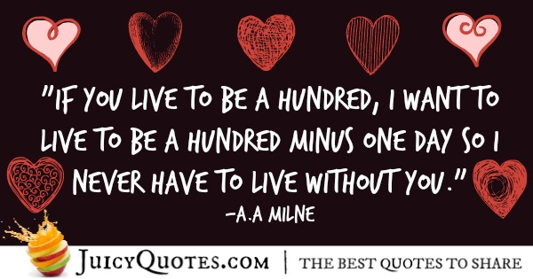 Cute Love Quote - A.A Milne