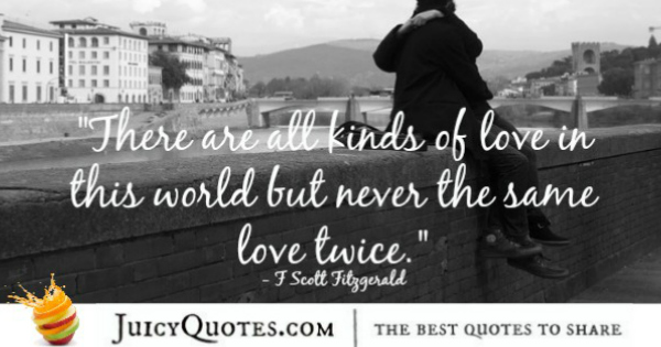 Cute Love Quote - F Scott Fitzgerald