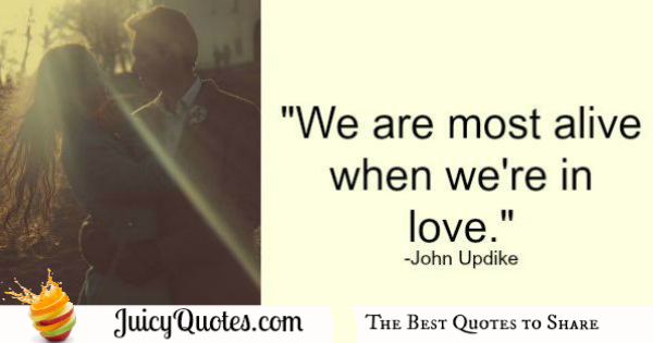 Cute Love Quote - John Updike