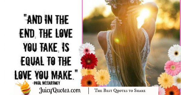 Cute Love Quote - Paul McCartney