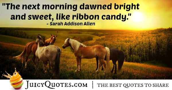 Good Morning Quote - Sarah Addison Allen
