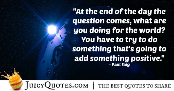 Positive Saying - Paul Faig