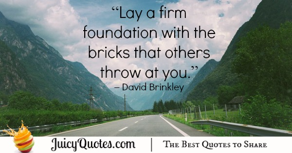 Quote About Change - David Brinkley
