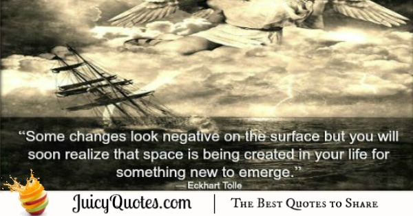 Quote About Change - Eckhart Tolle