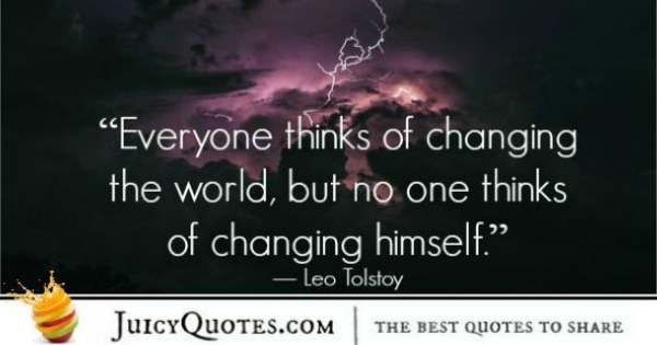 Quote About Change - Leo Tolstoy 2