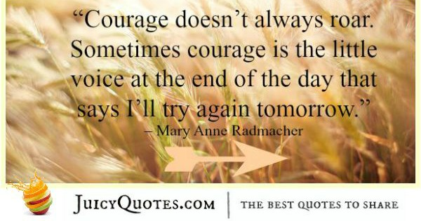 Quote About Change - Mary Anne Radmacher