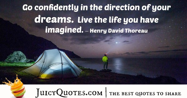 Quote About Inspiration -Henry David Thoreau