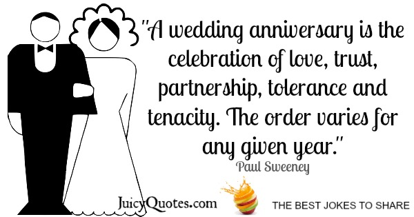 Happy Anniversary Quote - Paul Sweeney
