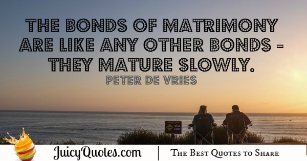 Happy Anniversary Quote - Peter De Vries