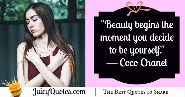 Quote About Beauty - Coco Chanel