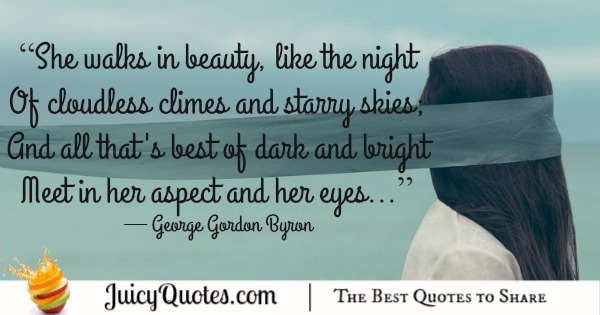 Quote About Beauty - George Gordon Byron