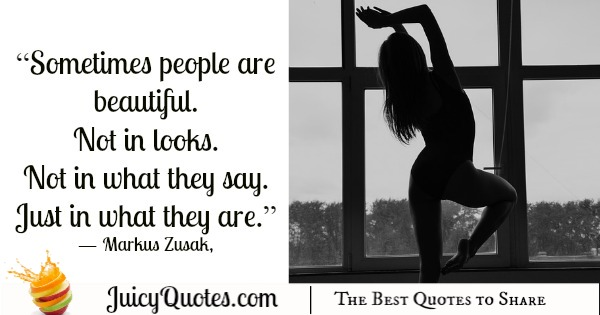 Quote About Beauty - Markus Zusak