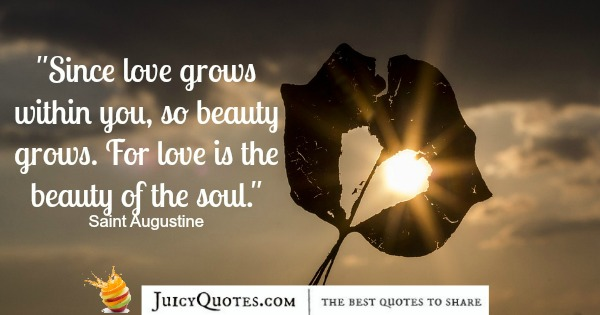Quote About Beauty - Saint Augustine