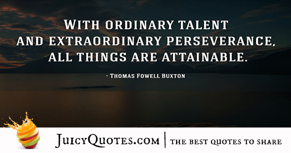 Quote About Success - Thomas Fowell Buxton