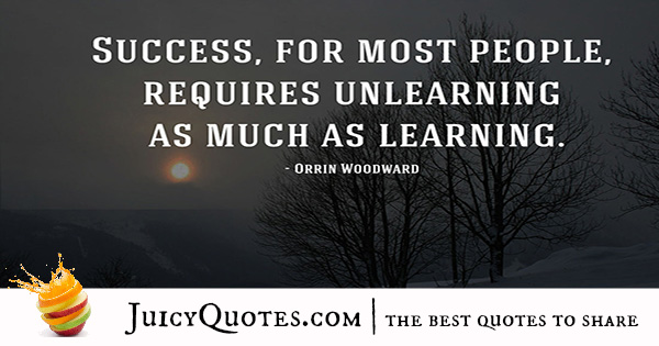 Quote About Success - Orrin Woodward