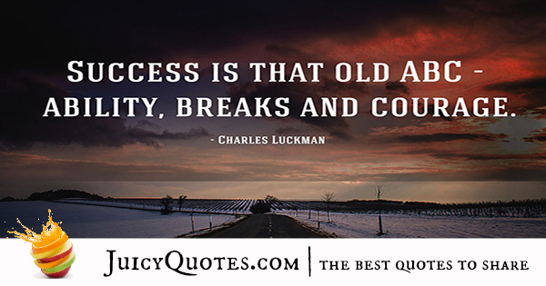 Quote About Success - Charles Luckman