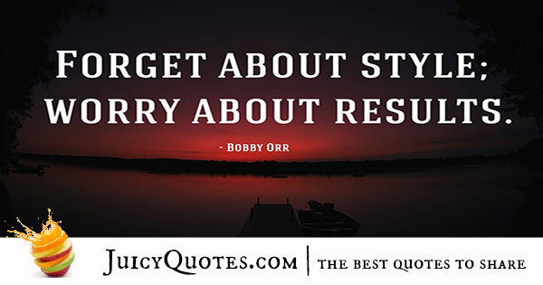 Quote About Success - Bobby Orr