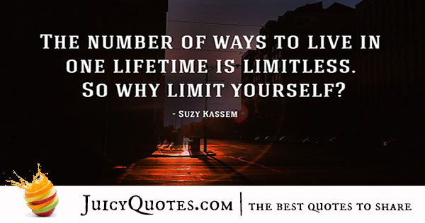 Quote About Success - Suzy Kassem