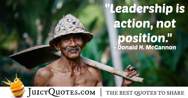 Quote About Leadership - Donald H. McGannon