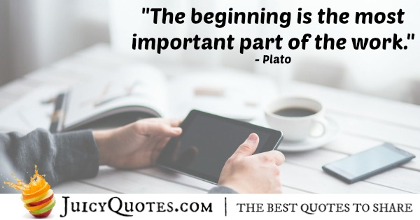 Quote About Work - Plato