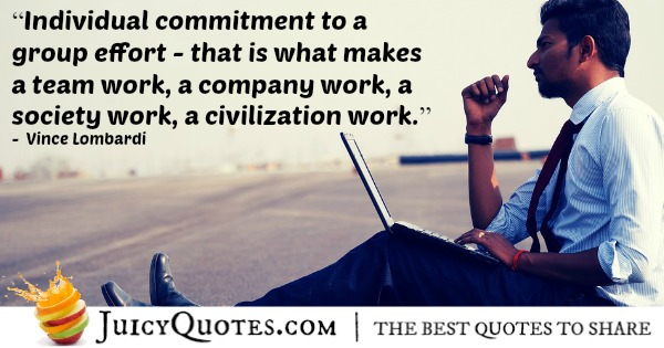 Quote About Work - Vince Lombardi - 2