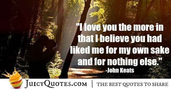 Romantic Quote - John Keats