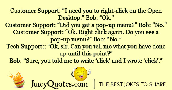 Customer Service Joke - 3