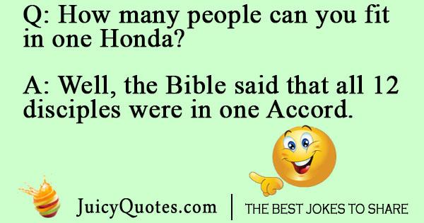 Fitting in a Honda joke