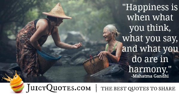Mahatma Gandhi quote about happiness