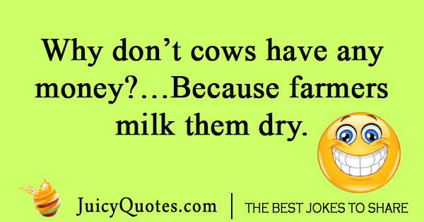 Joke about cows and money