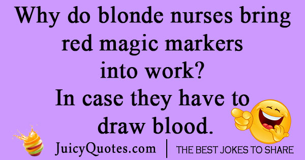 Blonde Nurse Joke