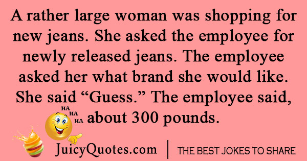 Jeans Shopping Joke