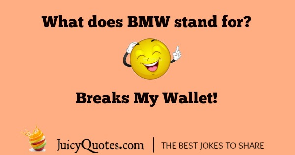 BMW joke about what the initials stand for