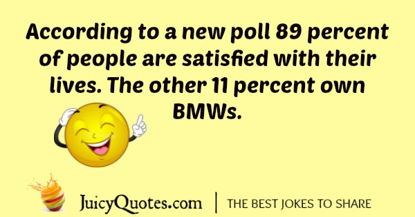 BMW joke about the owners being happy