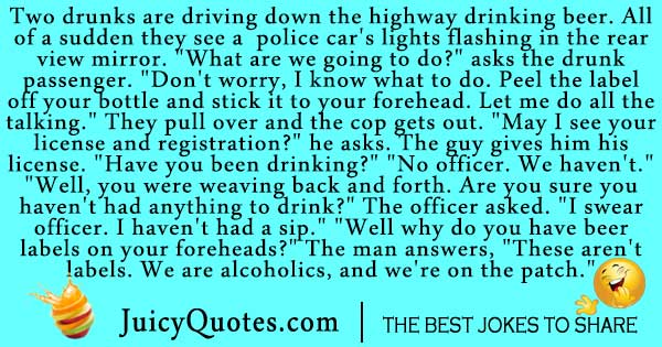addiction joke about two alcoholics